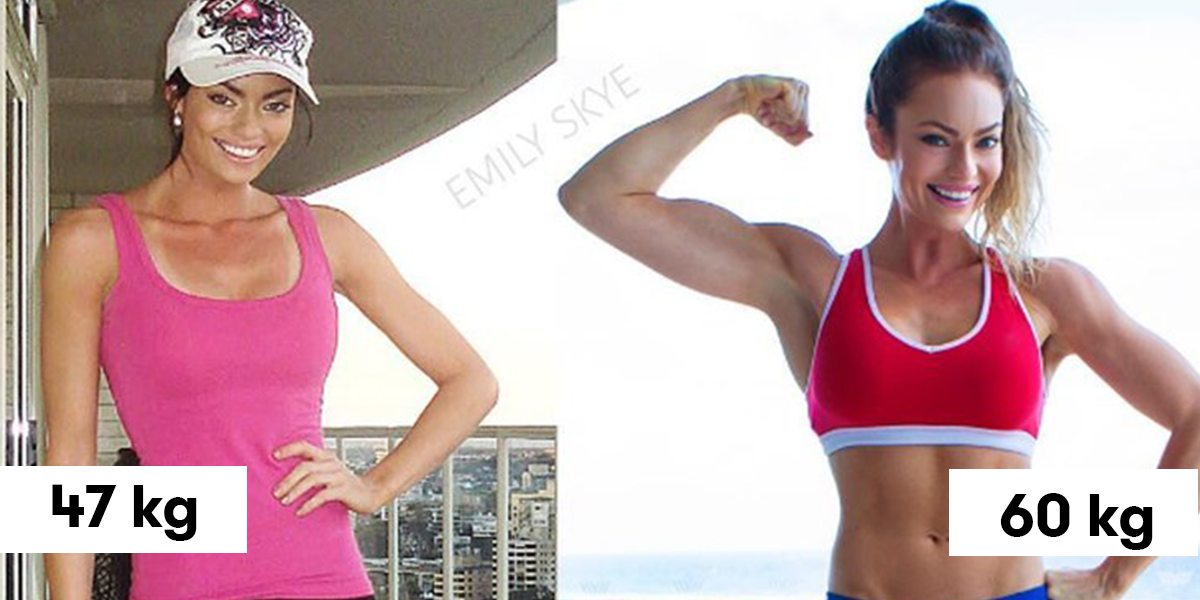 Emily Skye pierde în greutate)