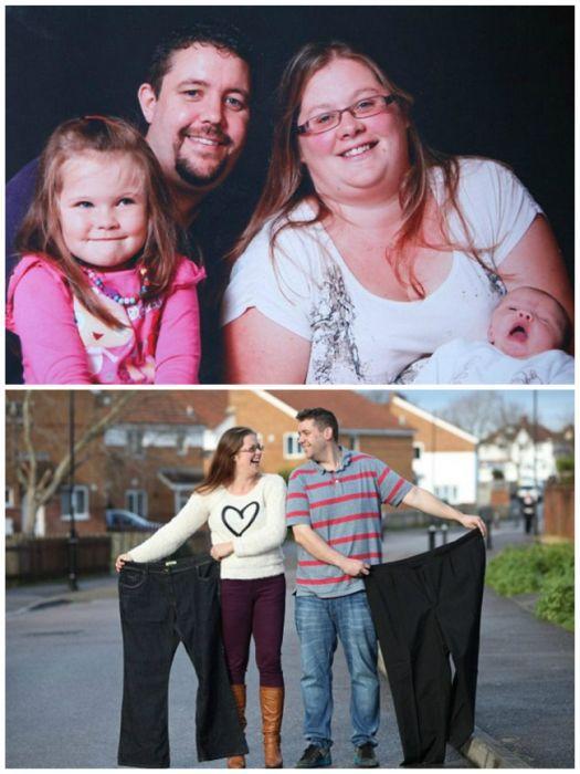cuplul pierde în greutate împreună)