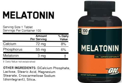 Alimente melatonina