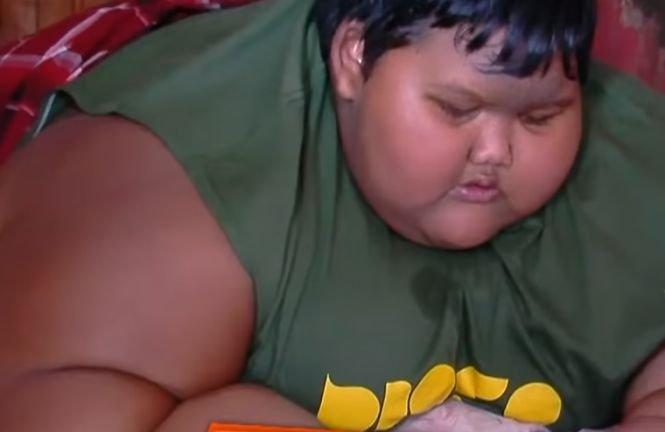 băiatul gras trebuie să slăbească